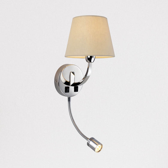 Chancery Wall Light with LED Reading Light