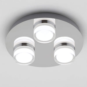 Lampsy Cole 3 Light Round LED Bathroom Light - -Lampsy