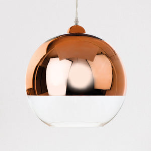 Lampsy FLR Dipped Glass Globe Pendant - Copper-Lampsy