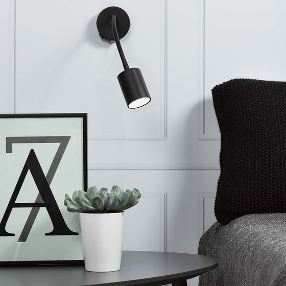 Nordlux Explore Flex Wall Lamp - Black - Wall Lights - Lampsy