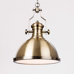 Lampsy FLR Trey Nautical Pendant - Antique Brass-Lampsy