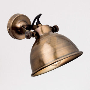 Lampsy FLR Huxley Wall Light - Antique Brass-Lampsy