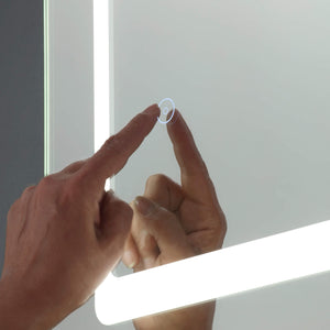 Lampsy Polder 700x500mm LED Illuminated Bathroom Mirror - -Lampsy