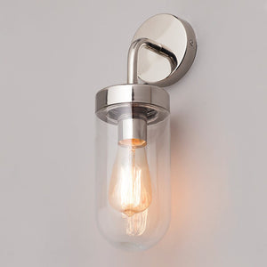 Lampsy Lander Wall Lantern - Polished Steel-Lampsy