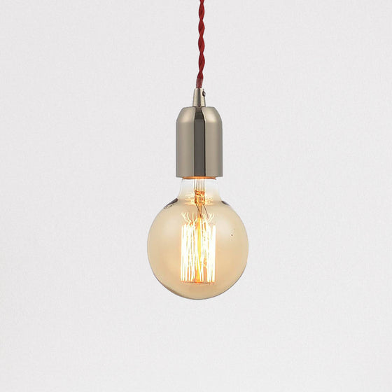 Lumit Edison Pendant Light - Polished Nickel