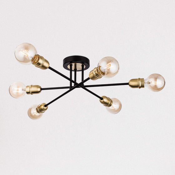 Noir Flush Ceiling Light