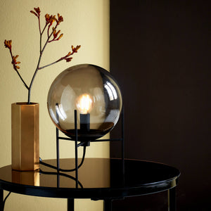 Nordlux Alton Table Lamp - Smoked Glass-Lampsy