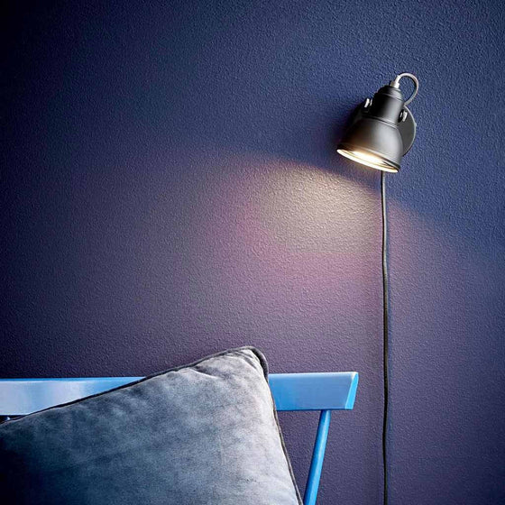 Nordlux Aslak Wall Spotlight Black - Wall Lights - Lampsy