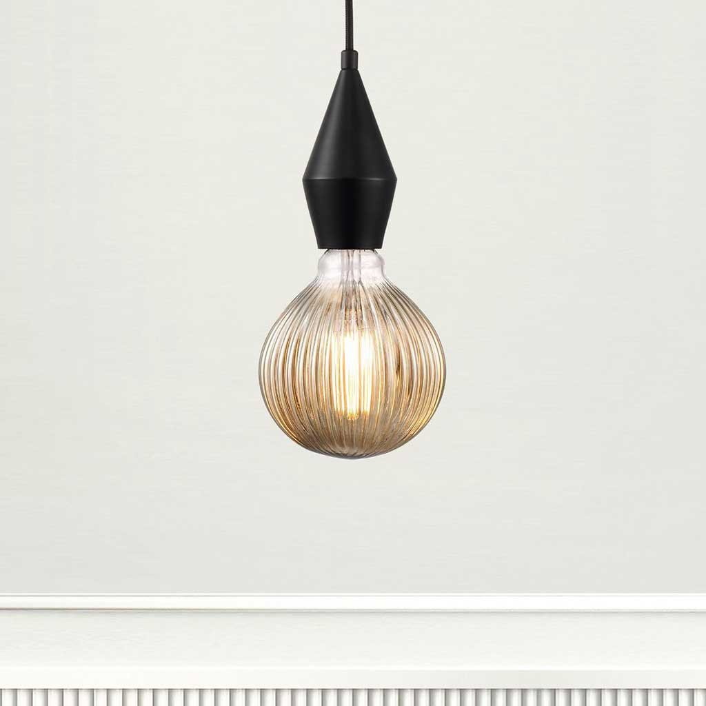 Nordlux Avra Striped LED Decorative Bulb - Amber - Light Bulbs - Lampsy