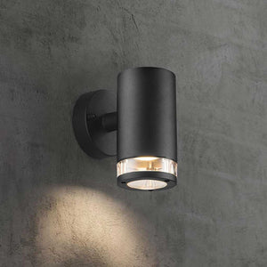 Nordlux Birk Down Wall Light - Black - Outdoor Lighting - Lampsy