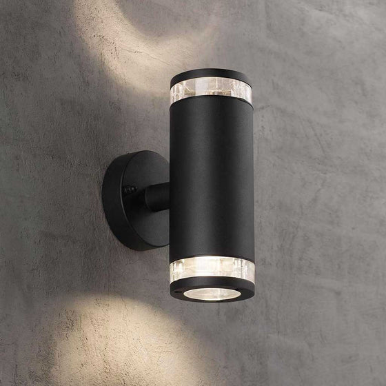 Nordlux Bird Up & Down Wall Light - Black - Outdoor Lighting - Lampsy