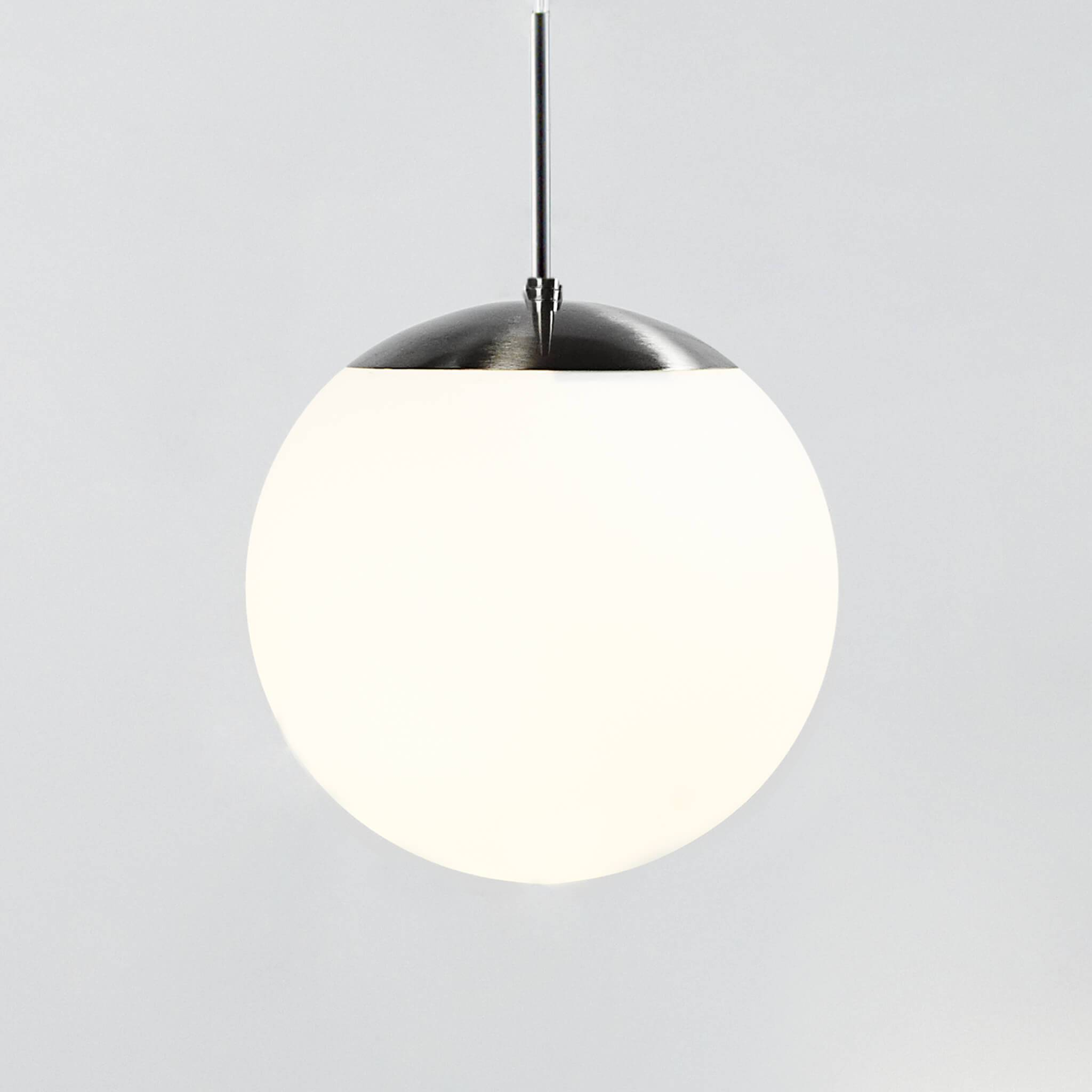 Nordlux Cafe Frosted Glass Globe Pendant Light Lampsy