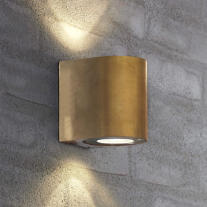 Nordlux Canto 2 LED Wall Light - Brass-Lampsy