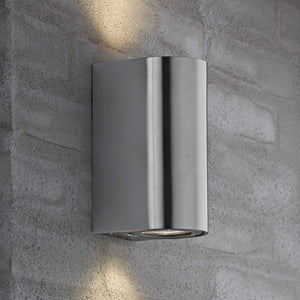 Nordlux Canto Maxi 2 Wall Light - Stainless Steel-Lampsy