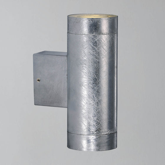 Nordlux Castor Maxi Up/Down Wall Light - Galvanised - Outdoor Lighting - Lampsy