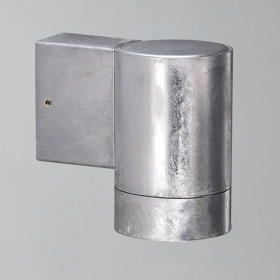 Nordlux Castor Maxi Down Wall Light - Galvanised - Outdoor Lighting - Lampsy
