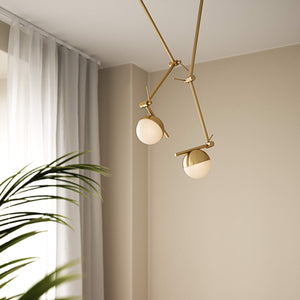 Nordlux Contina Swing Arm Wall Light - -Lampsy