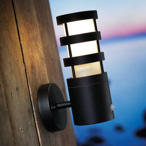 Nordlux Darwin Outdoor Wall Sensor Light - Black - -Lampsy