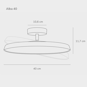 Nordlux Alba Pro LED Ceiling Light - -Lampsy