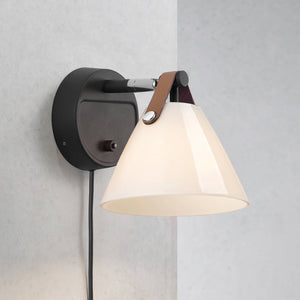 Nordlux Strap 15 Wall Light - Glass-Black-Lampsy