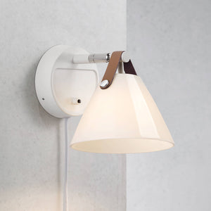 Nordlux Strap 15 Wall Light - Glass-White-Lampsy