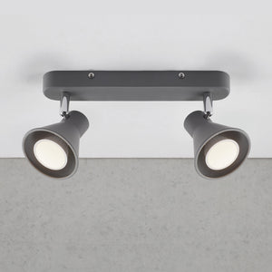 Nordlux Eik 2 Light Spotlight Bar - Grey-Lampsy