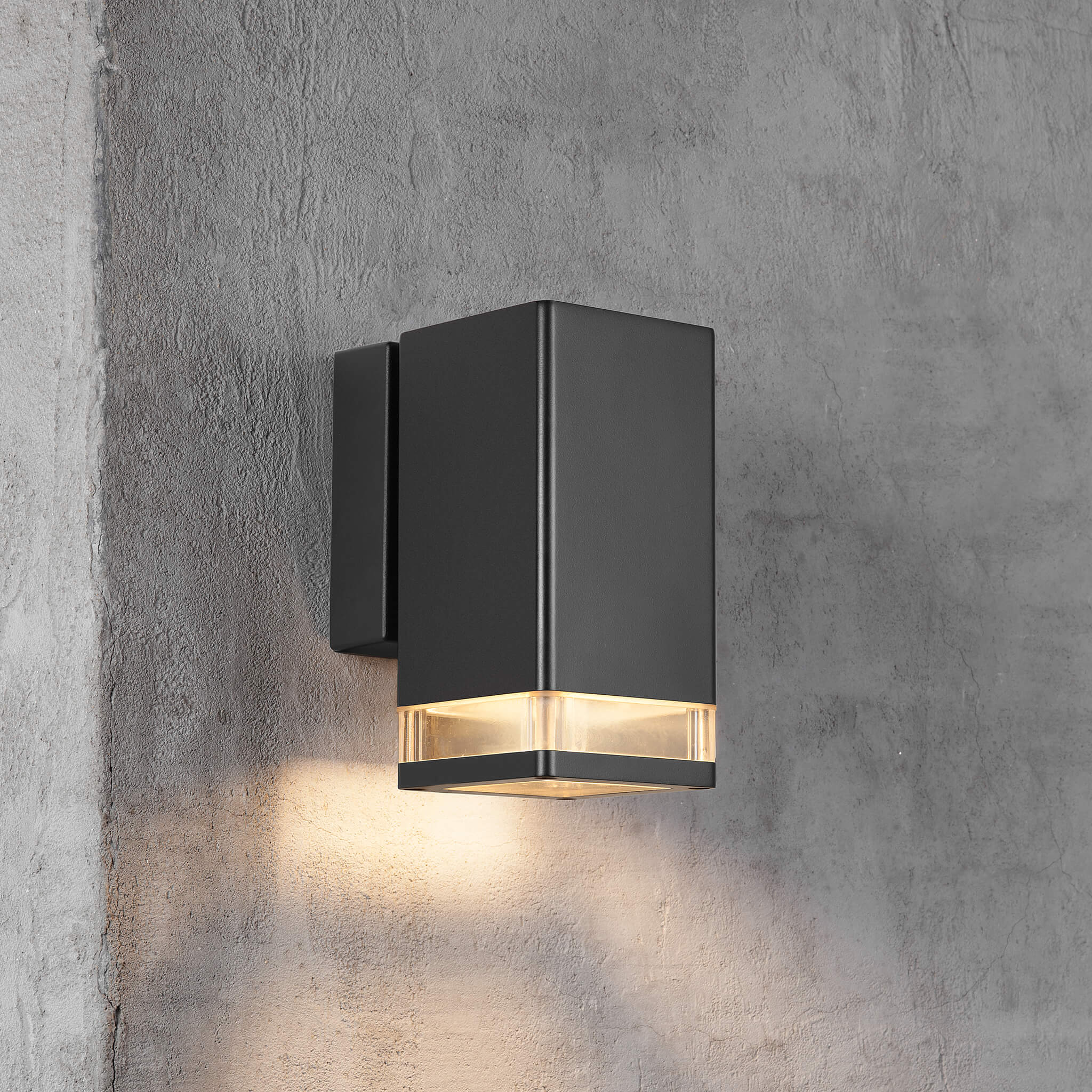 Nordlux Elm Black Down Outdoor Wall Light Black Lampsy