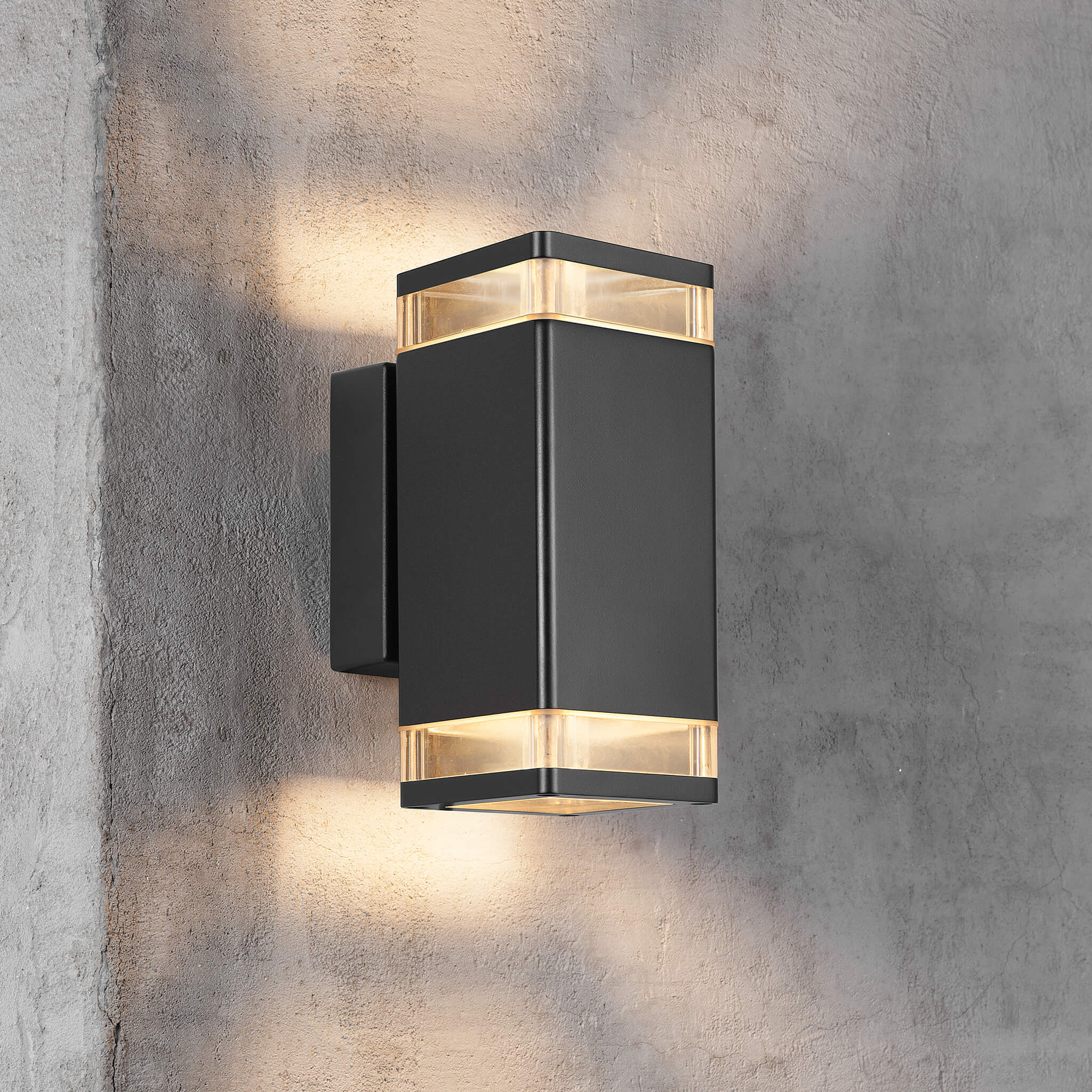 Nordlux Elm Black Up Down Outdoor Wall Light Black Lampsy