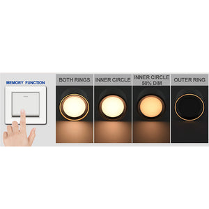 Nordlux Fallon LED Surface Downlight with 4-Step MoodMaker - -Lampsy