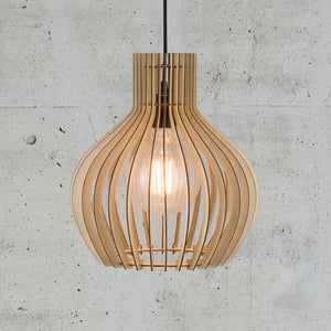 Nordlux Groa Wooden Cage Pendant - 30cm-Lampsy