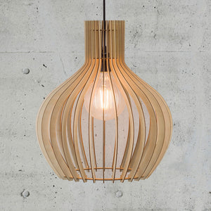 Nordlux Groa Wooden Cage Pendant - 40cm-Lampsy