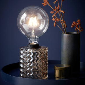 Nordlux Hollywood Mini Glass Table Lamp - Amber-Lampsy