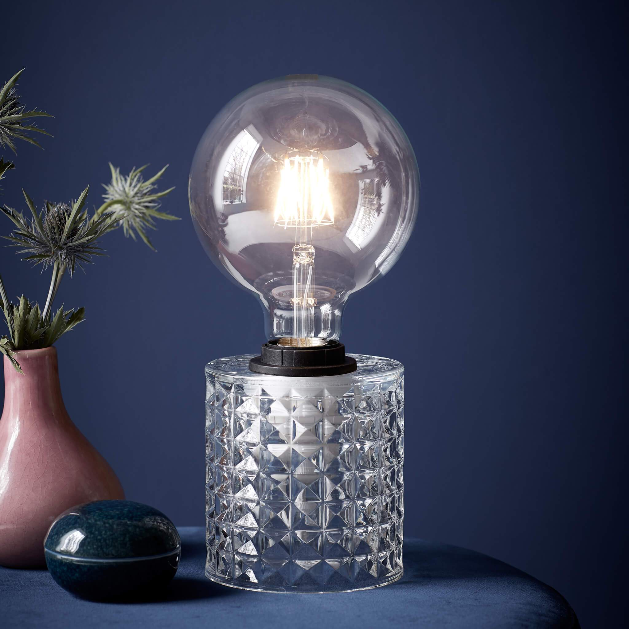 Hollywood Mini Glass Table Lamp Lampsy