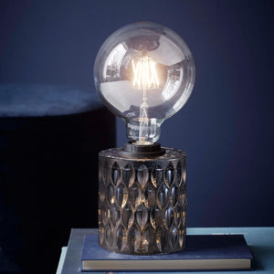 Nordlux Hollywood Mini Glass Table Lamp - Smoked Glass-Lampsy
