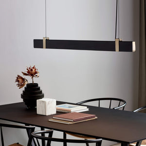 Nordlux Lilt 115 Linear Pendant Light - Black-Lampsy
