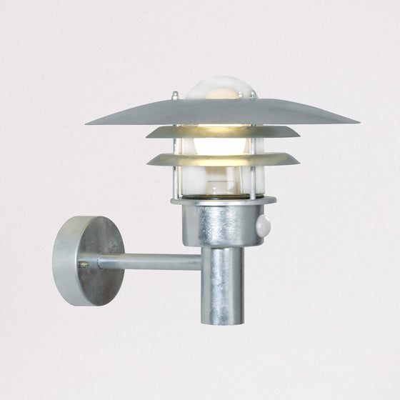 Lonstrup 32 Wall Sensor Light - Galvanised