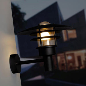 Nordlux Lonstrup 32 Wall Light - Black - Outdoor Lighting - Lampsy