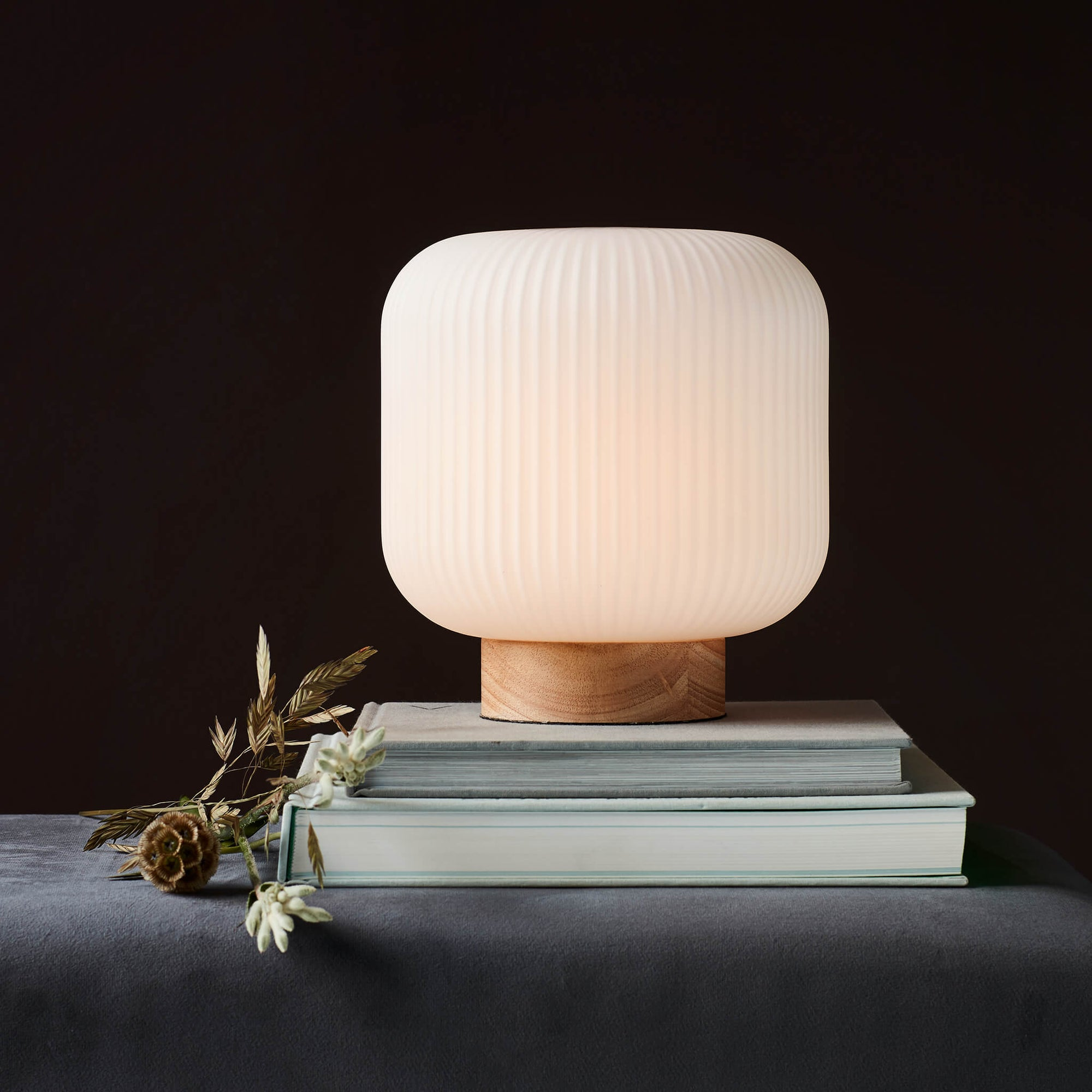 Nordlux Milford Table Lamp - Wood-Lampsy