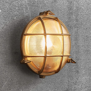 Polperro Brass Bulkhead Outdoor Wall Light