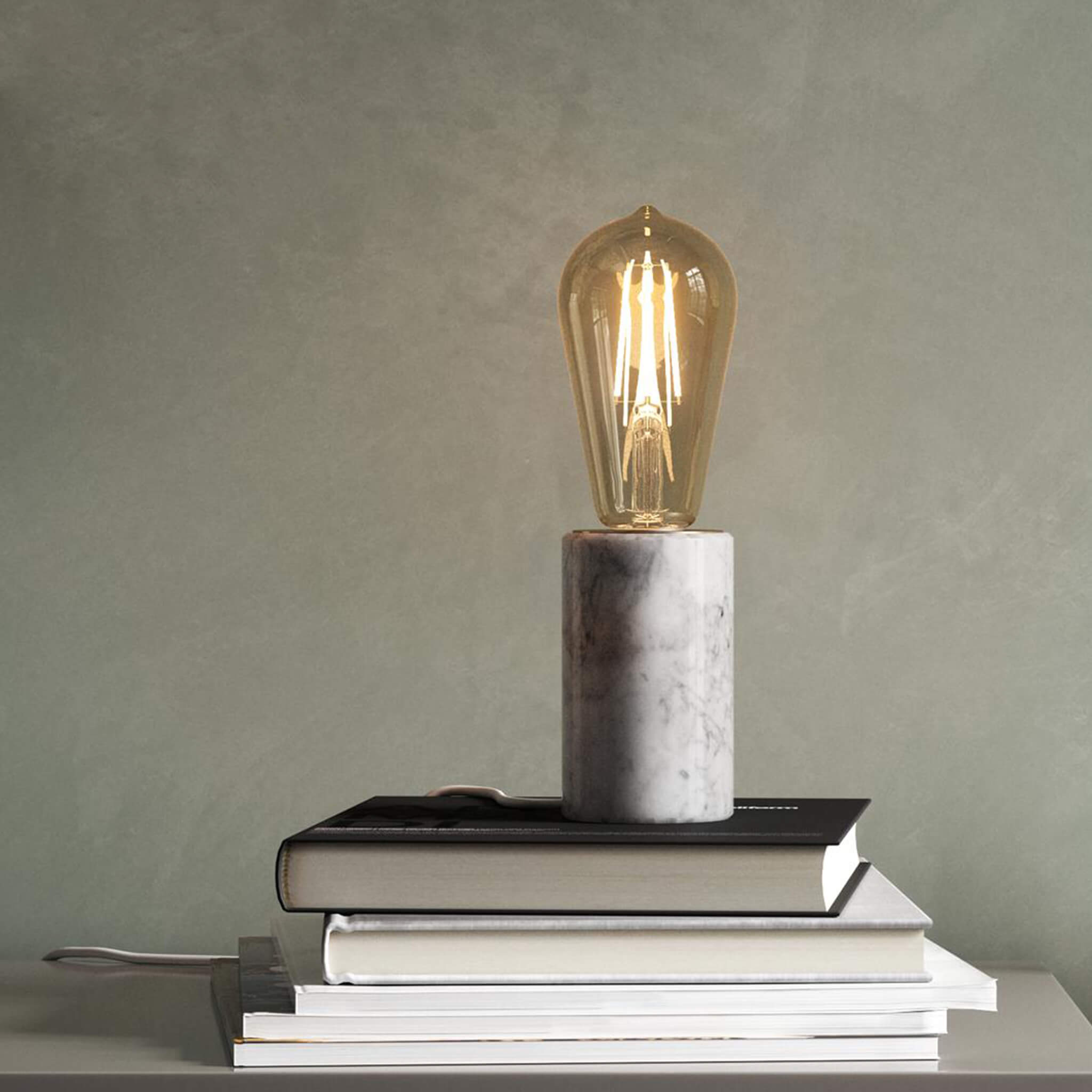 Nordlux Siv Marble Table Lamp Lampsy