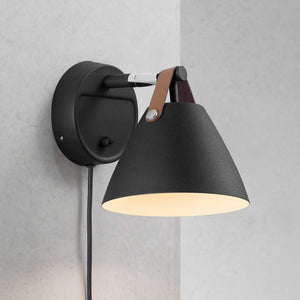 Nordlux Strap 15 Wall Light - Metal-Black-Lampsy