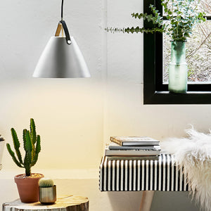 Nordlus Strap 27 Brushed Steel Pendant Light