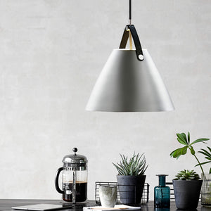 Nordlus Strap 36 Brushed Steel Pendant Light