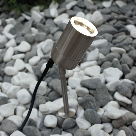 Tin Stake Light - Stainless Steel