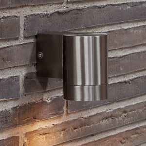 Nordlux Tin Maxi Down Wall Light - Stainless Steel-Lampsy