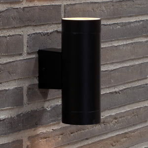 Nordlux Tin Maxi Up & Down Wall Light - Black-Lampsy