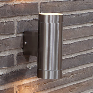 Nordlux Tin Maxi Up & Down Wall Light - Stainless Steel-Lampsy