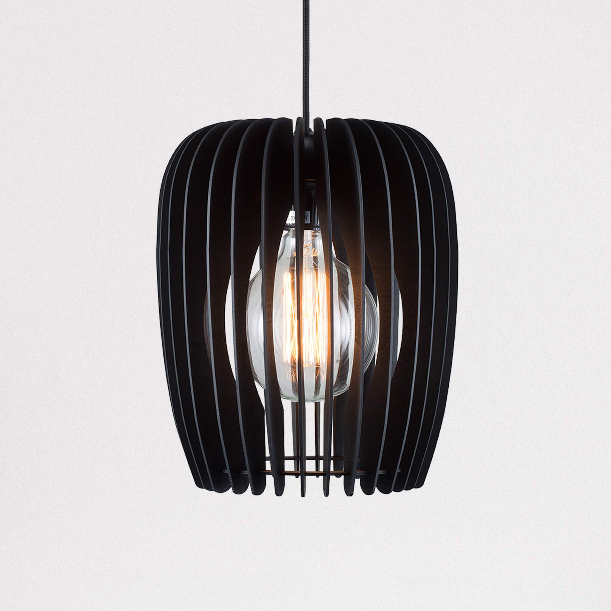 Tribeca 24 Wooden Cage Pendant Light Lampsy