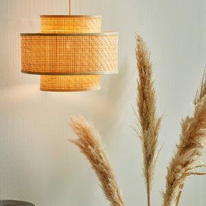 Nordlux Trinidad Woven Bamboo Pendant Light - -Lampsy