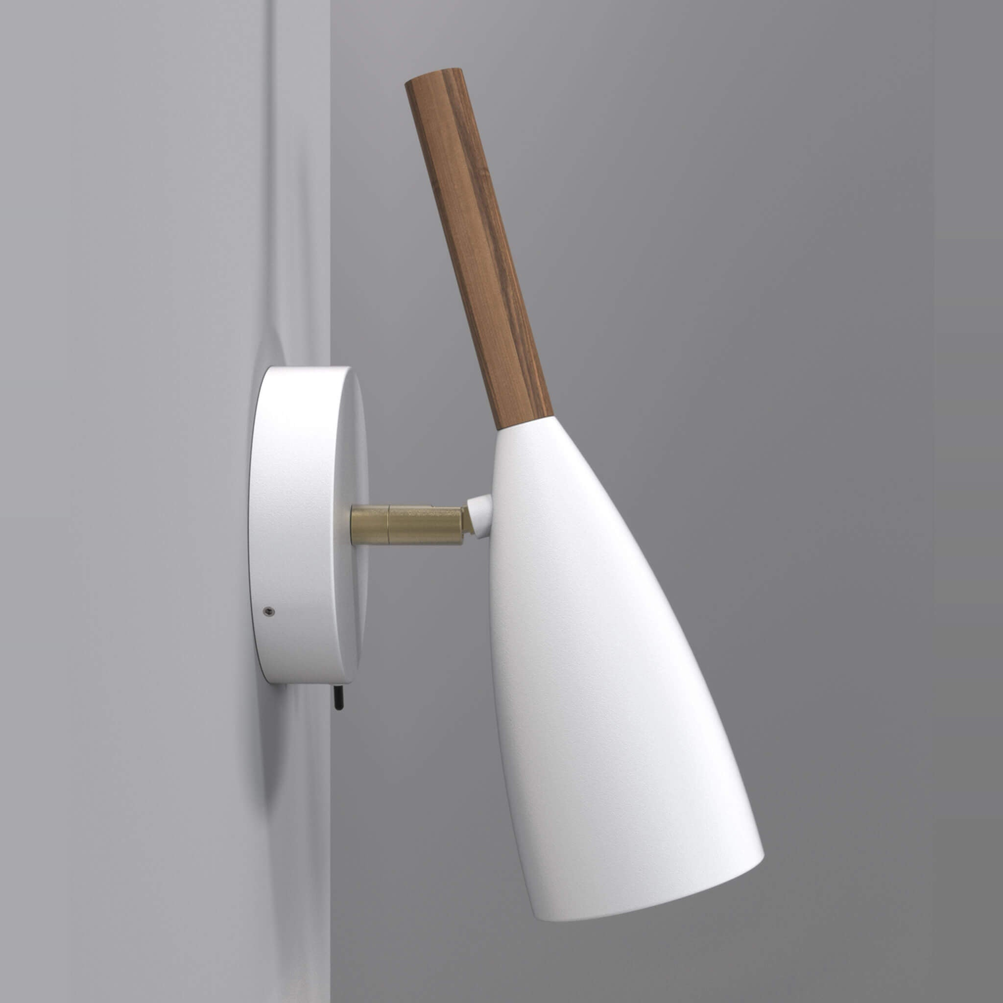 timeless design 91d61 41b14 Nordlux Pure Wall Light with switch - Walnut Stem - Lampsy